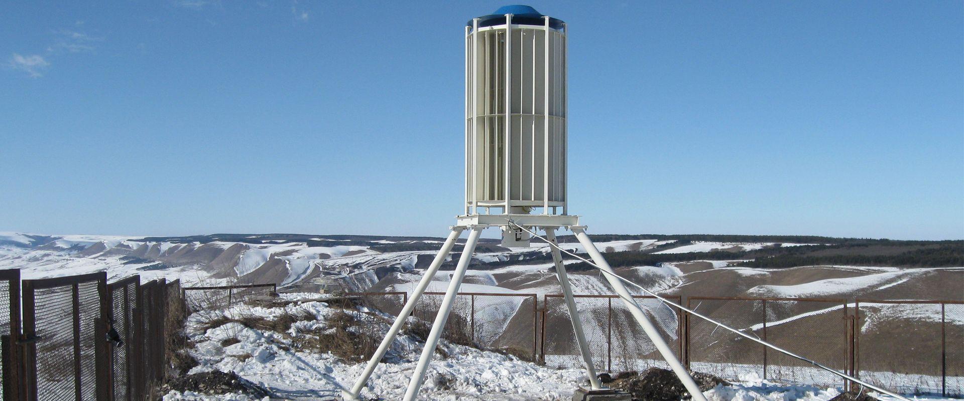 WINDEOL JSC ISTOK es un aerogenerador de eje vertical destinado a la producción de energía eléctrica mediante el aprovechamiento de la energía eólica